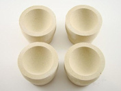 Lot of 8 - # 8AM Mabor Cupel 2.5cm - 1.9cm Gold-Assay-Smelting-Refining-Melting-Cupels