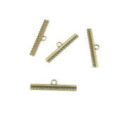 Price per 5 Pieces Jewellery Making Supply Charms Findings Filigrees S1TV2W 15 Strand Reducer Connector Antique Bronze Findings Beading Craft Supplies Bulk Lots