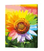 Diy Digital Oil Painting Lliving Room Landscape Floral Colour£¬Sunflower