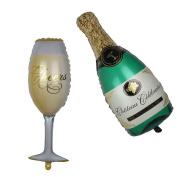 Nina 100cm champagne theme party balloons - 2pcs