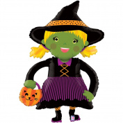 Betallic Halloween Little Witch Costume Linking 110cm Foil Balloon
