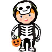 Betallic Halloween Little Skeleton Costume Linking 100cm Foil Balloon