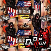 King Kong Monkey Ape Gorilla Hydrographic Water Transfer Film Hydro Dipping Dip Demon