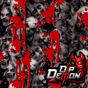 Blood Splatter Zombies Horror Hydrographic Water Transfer Film Hydro Dipping Dip Demon
