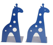 21CM Cute Cartoon Fashion Hollow Giraffe Bookend Kids Book End Nonskid Iron Metal Bookends Library School Office Home Study Book End Gifts