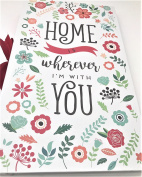 """""""Home is Wherever I'm With You"""" Floral Theme PHOTO ALBUM, Holds 300, 10cm x 15cm Photos"""