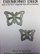 Diemond Dies Fluttering Butterfly Die Set - 2 Dies