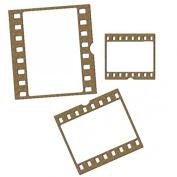 Film Strip Frames Laser Cut Chipboard - 3 piece set