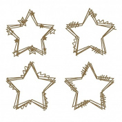 Star Doodle Frames Laser Cut Chipboard - 4 piece set