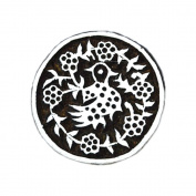 Indian Hand Carved Circular Wooden Textile Printing Block Clay Potter Craft Heena Tattoo Scrapbook Stamps