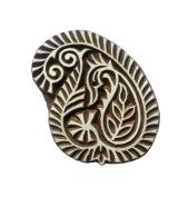 Designer wooden Textile Printing Block Paisley Clay Potter Craft Heena Tattoo Scrapbook Stamps