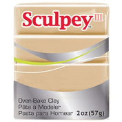 Oven Bake Modelling Polymer Clay in Tan by Sculpey III