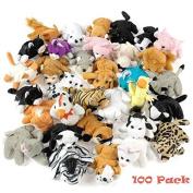 Plush Mini Bean Bag Animal Assortment 100 Pieces