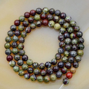 "AD Beads Natural African Dragon Bloodstone Gemstone Round Loose Beads 16"" 4mm 6mm 8mm 10mm"