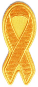Orange Ribbon for Leukaemia Awareness Patch (7.6cm X 3.2cm ) $4.95 with FREE FREIGHT from San Diego Leather