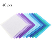 colorfulworld6 DIY Fabric Polyester, Fabric Squares Sheets For Sewing Dolls Cloth Crafts