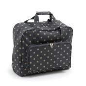 Hobby Gift 'Charcoal Polka Dot' Sewing Machine Bag 20 x 43 x 37cm