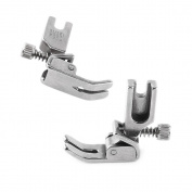 2pcs Industrial Flat Bed Sewing Machine Adjustable Shirring Feet for Single Needle