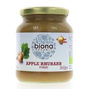 Biona   Apple & Rhubarb Puree   3 x 360g
