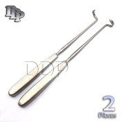 """DDP ELEVATORS DOYEN RIB RIGHT AND LEFT 7"""" CURVED BLADE 3.2CM STAINLESS STEEL 2 PCS INSTRUMENTS"""